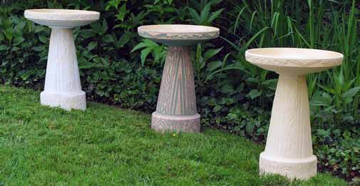 Art Deco Birdbath White