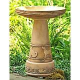 Best Friends Birdbath Set - Aged Brown