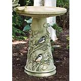 Chickadee Birdbath with Glazed Interior