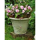 Burley Clay Hand Painted Hope Planter 10 inch