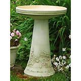 Burley Clay Hope Birdbath Top and Pedestal Set