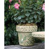 Burley Clay Hand Painted HummingBird Planter 10 in