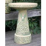 Burley Clay Handpainted Hummingbird Birdbath Top