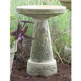 Burley Clay Handpainted Lavender Birdbath Top