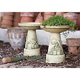 Mini Garden Tools Birdbath Set - Aged Moss