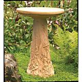 Wildflower Meadow Birdbath w Glazed Interior-Aged