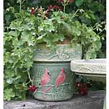 Winter Cardinal 10in Planter