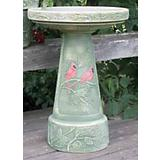 Winter Cardinal Birdbath Set