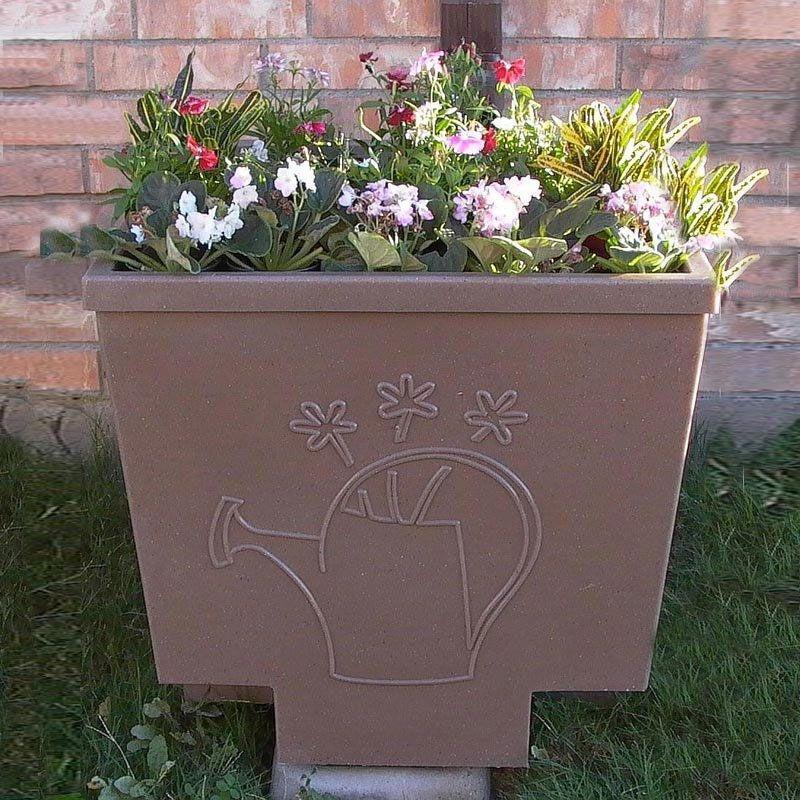 Nino Rain Barrel Planter Plus Solid Sherwood Green