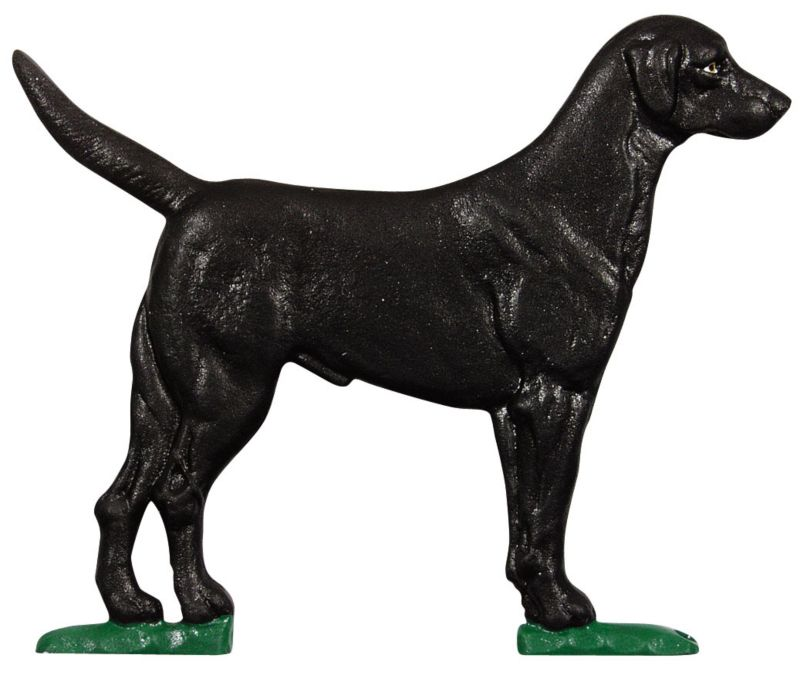 Black Lab Weathervane Garden Black