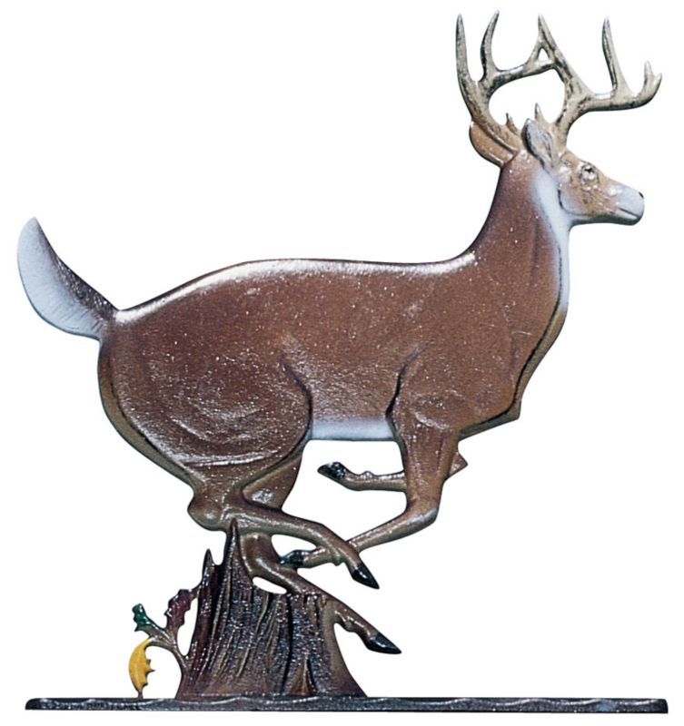 Buck Weathervane Rooftop Black