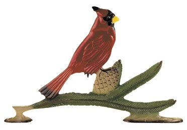 Cardinal Weathervane Rooftop Color