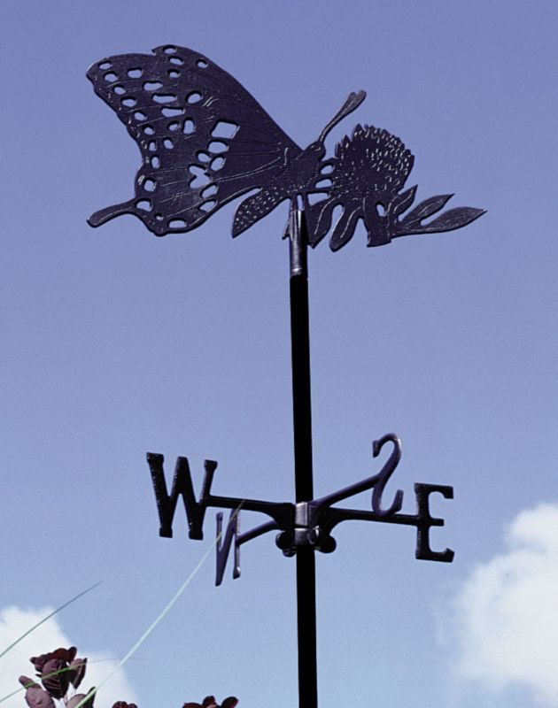 Butterfly Garden Weathervane Rust