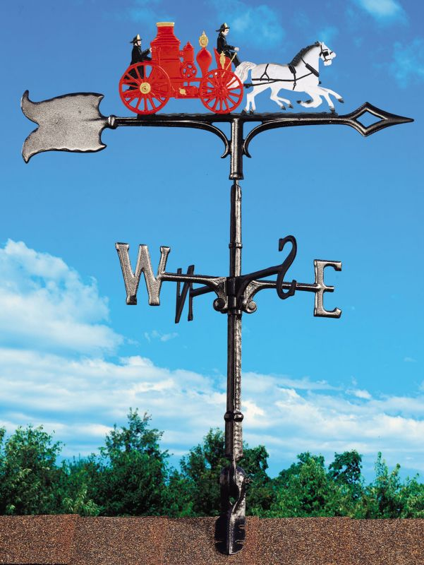 Fire Wagon Weathervane 30in Rooftop Color