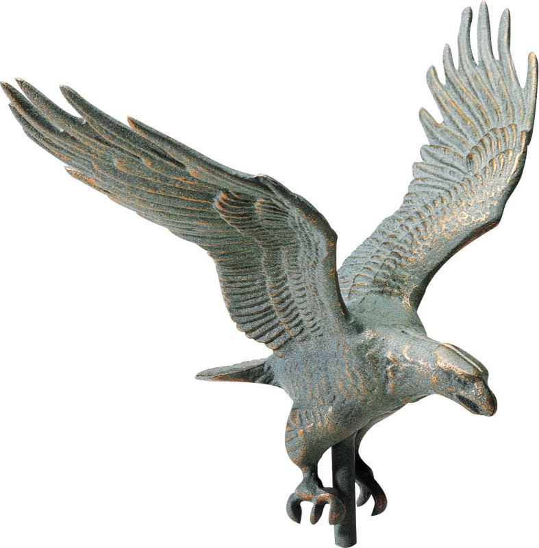Full-Bodied Eagle Weathervane 30in Gold-Bronze