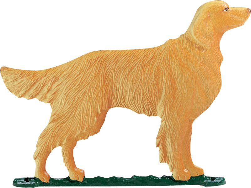 Golden Retriever Weathervane Garden Black