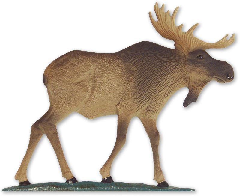 Moose Weathervane Rooftop Black