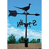 Pheasant Accent Weathervane 24in Black