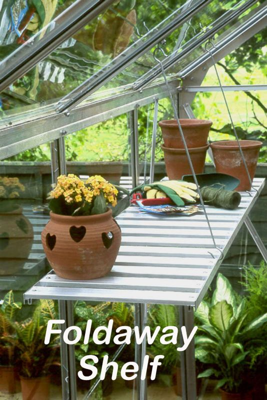 Halls Aluminum Greenhouse 4Ft Foldaway Shelf