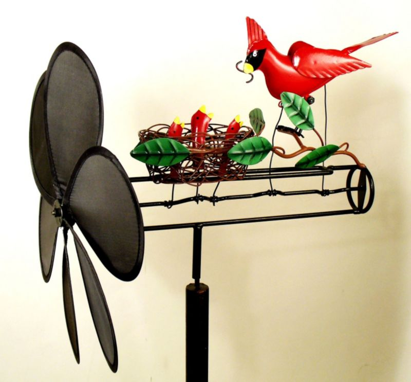 Cardinal Nest Whirligig with Nylon Propeller