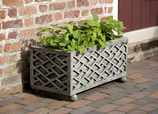 Chippendale Cast Stone Window Box Natural