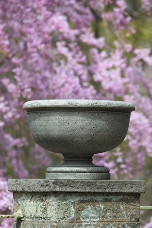 St. Charles Cast Stone Urn English Moss