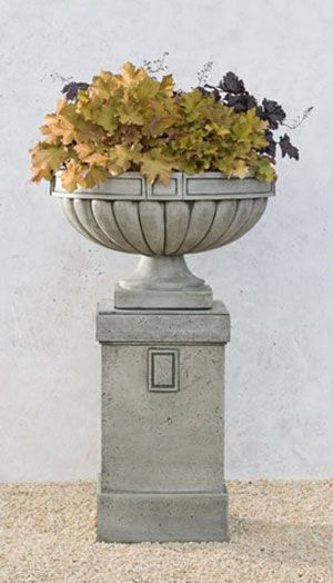 Northlake Cast Stone Urn English Moss