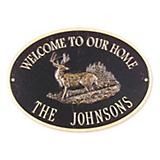 Oval Welcome Whitetail Plaque