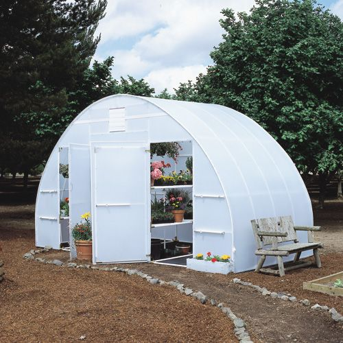 Greenhouses storage buildings vinyl made in canada think for Garden shed victoria bc