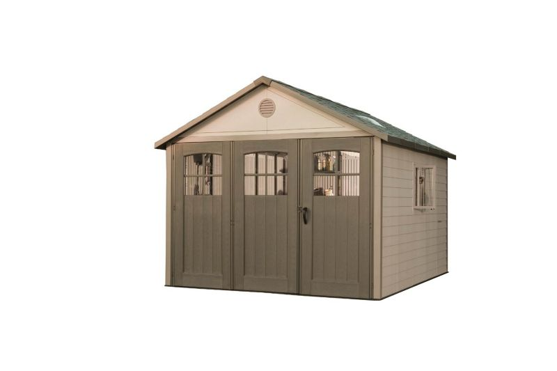 11ft Shed With 9ft Tri Fold Doors<br />