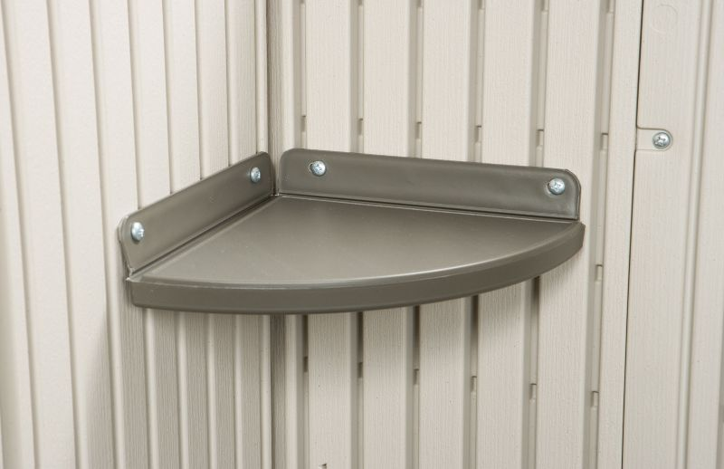2 Corner Shelf Storage Shed Accessory Kit
