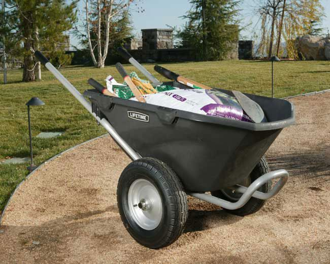 click for Full Info on this Heavy Duty Lifetime Wheelbarrow