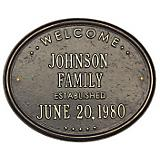 Oval Welcome Family Wall Plaque