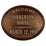 Oval House Established Plaque