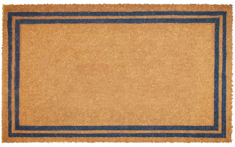 Double Border Coco Doormat 22x36 Brown