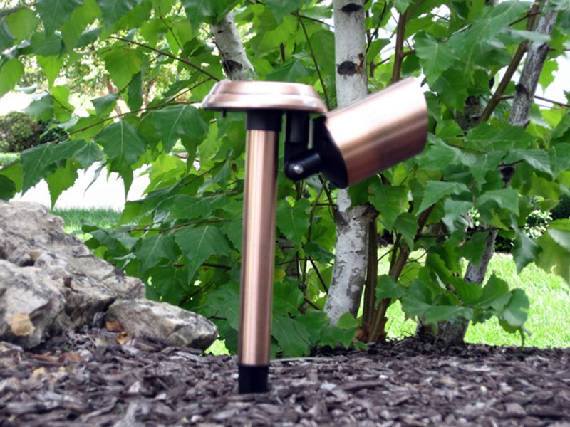 Solar Stainless Spot Light Rusted Bronze