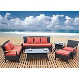 Outdoor Dark Brown Sofa Set