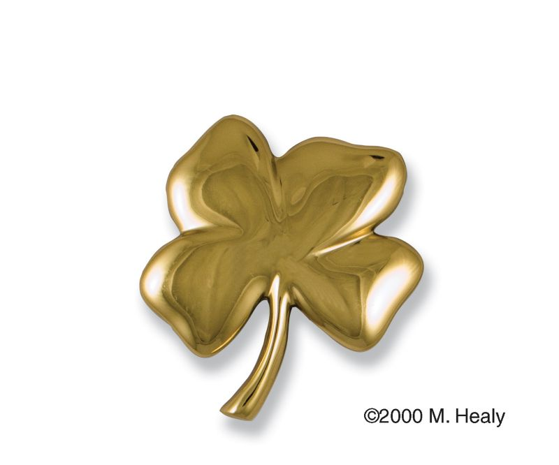 Brass 4-Leaf Clover Door Knocker