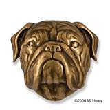Bulldog Dog Head Door Knocker