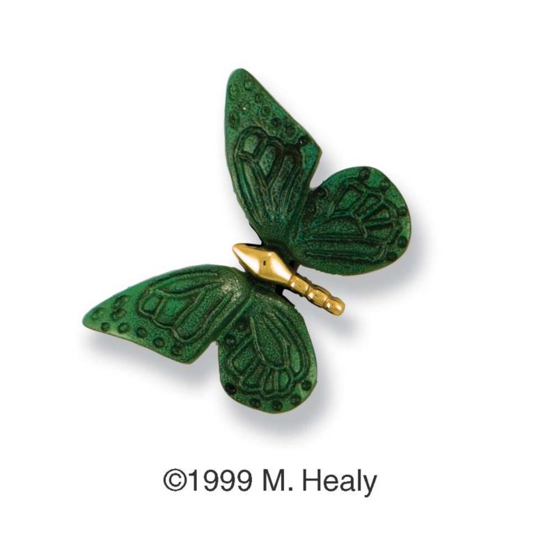 Butterfly Ringer Green Patina