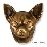 Chihuahua Dog Head Door Knocker