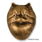 Pomeranian Dog Head Door Knocker