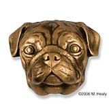 Pug Dog Head Door Knocker