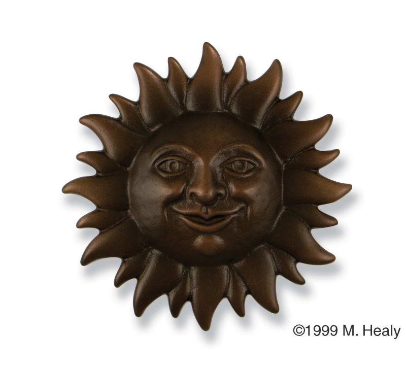Smiling Sunface Door Knocker Brass