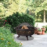Oil Rubbed Bronze Geometric Firebowl