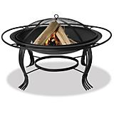 Black Firepit with Outer Ring 34 Inch