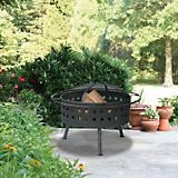 Square Aged Bronze Firebowl 24 Inch