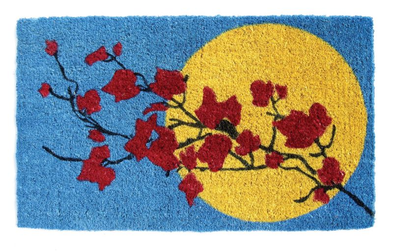 Branches and Moon Coir Doormat