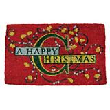 Happy Christmas Coir Doormat