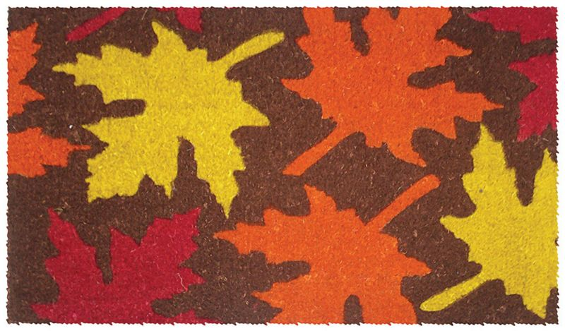 Maple Leaves Coir Doormat